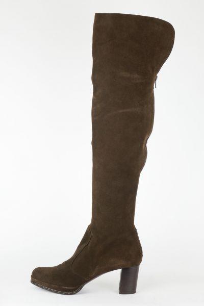 Overknee Stiefel Wildleder braun