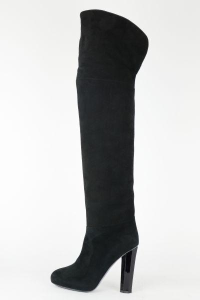 Design Overknee Stiefel Wildleder