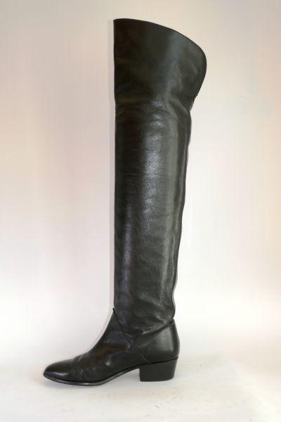 authentische Qualität tolle Passform außergewöhnliche Auswahl an Stilen und Farben Tommy Hilfiger Overknee Stiefel schwarz Leder