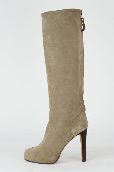 Stiefel Wildleder grau
