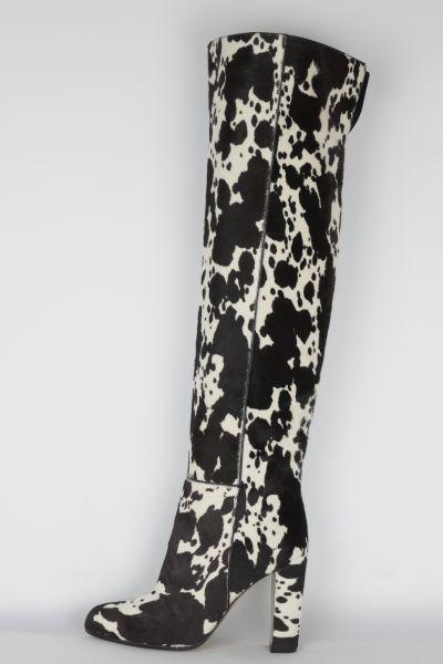 Stiefel Fell schwarz&weiß